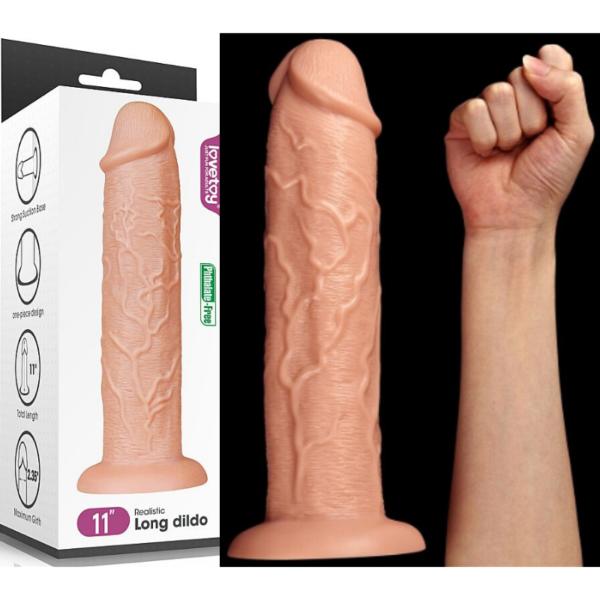 Pênis Grosso e Grande Realístico - Long Dildo - Lovetoy - Sexshop