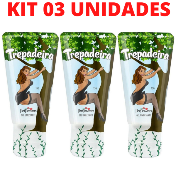 Kit 03 Gel Erótico Trepadeira Excitante Feminino 15g HotFlowers - Sex shop