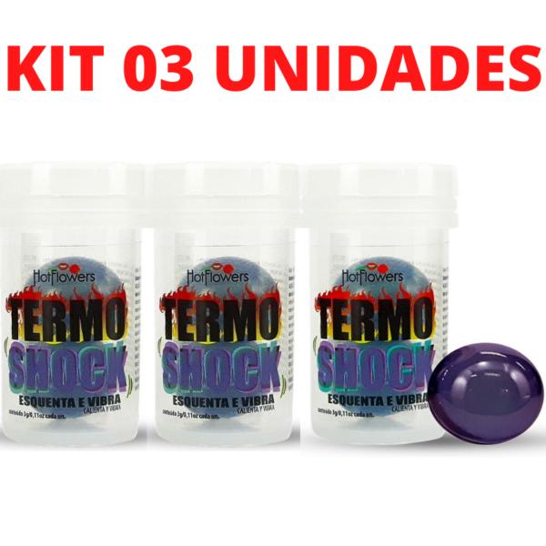 Kit Bolinha Termo Shock Hot Ball 02 unidades cada HotFlowers - Sex shop