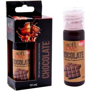 Óleo chocolate para massagem intima que esquenta 15 ml Soft Love - Sexshop