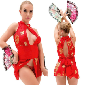 Kit Fantasia Gueixa Vermelha Jin Sapeka - Sex shop