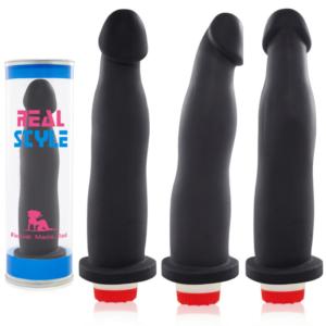 Pênis Real Peter Fit Style Preto 17,4x2,5cm - Sex shop