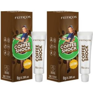 Kit 02 Gel Eletrizante Coffee Shock AROMÁTICO 8 G FEITIÇOS