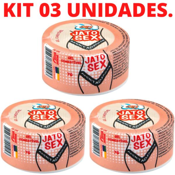 Kit 03 Vagina Apertadinha Jato Sex Gel 7g Pepper Blend - Sex shop