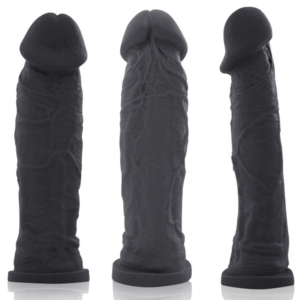 Pênis REAL PETER Charmoso Style Preto 20x5cm - Sex shop