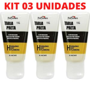 Kit 03 Gel Excitante e Picante Tarja Preta 15g Hot Flowers - Sex shop