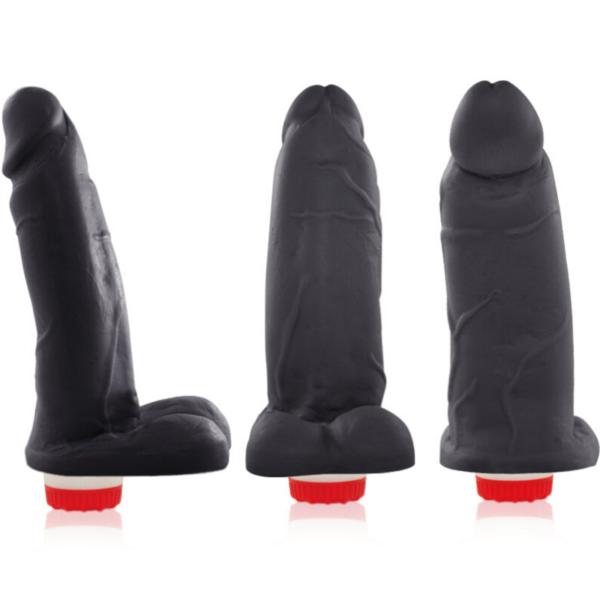 Pênis Real Peter vibrador Preto Galã - 4,5 x 15 cm - Sex Shop