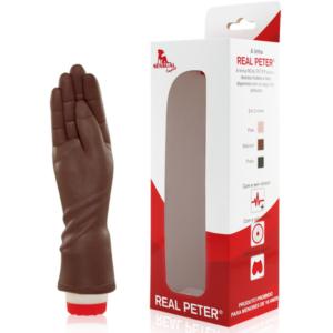 Mão para pratica de Fisting Marrom 18,5x4,5cm - Sexshop