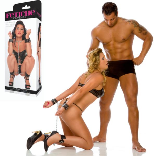 Algema dupla - para punho e tornozelos - Sexshop