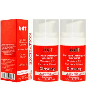 Kit 02 Gel para massagem Erótica Excitation Crazy For Love 17g Intt - Sexshop