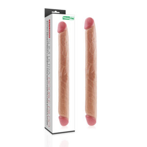 Pênis duplo, 43,5 cm com Glande Avantajada - SLIM ULTRA DOUBLE DILDO - Sexshop