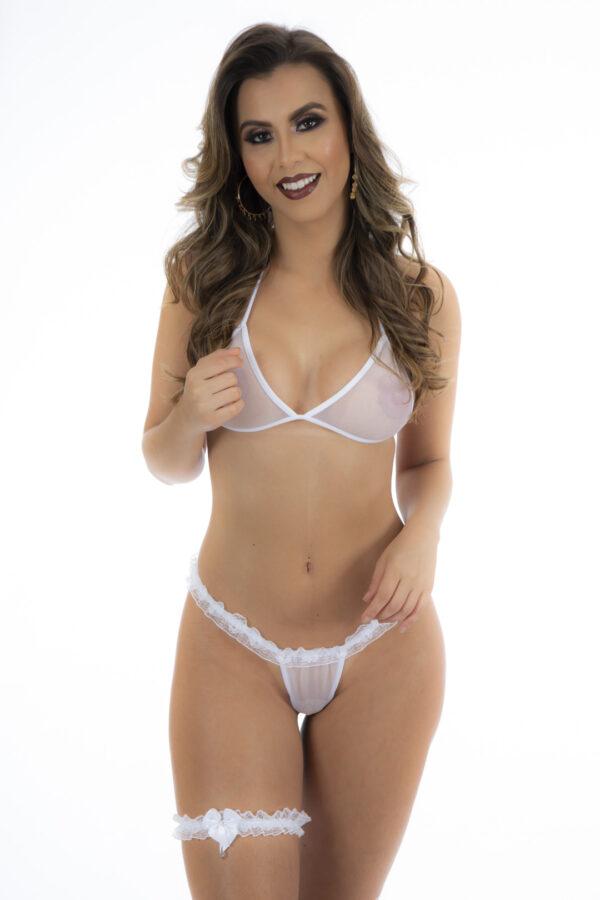 Conjunto Sexy Branca Pimentinha Pimenta Sexy - Sex shop