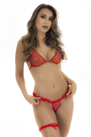 Conjunto Sexy Vermelha Pimentinha Pimenta Sexy