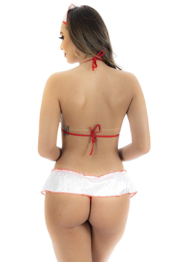 Kit Fantasia Pimentinha Enfermeira Pimenta Sexy - Sex shop