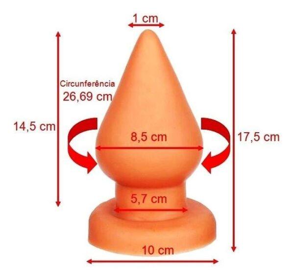 Plug anal Triângulo macio e GIGANTE marrom - Sexshop
