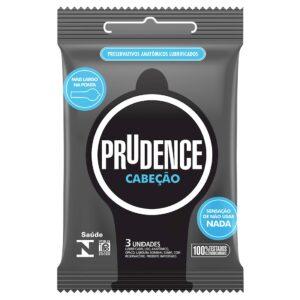 Preservativo Cabeção com 3 Unidades Prudence - Sex shop