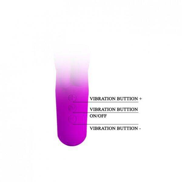 Vibrador com Estimulador Clitoriano Duplo e 30 Modos de Vibração - PRETTY LOVE VALENTINE - Sex shop