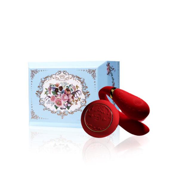Vibrador para Casal ZALO - Versailles Fanfan Set Couples Massager Vermelho - Sex shop