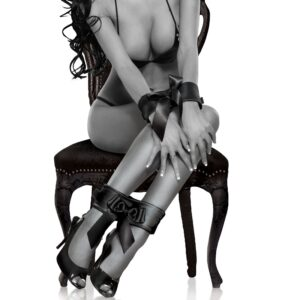Algemas e Tornozeleiras Com Velcro - Bowtie Cuffs - Sex shop