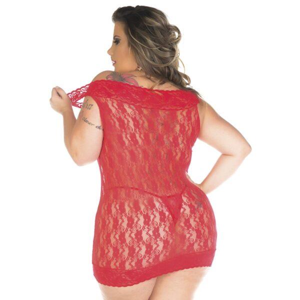 Camisola, Camisola Malícia Plus Size Pimenta Sexy Preta