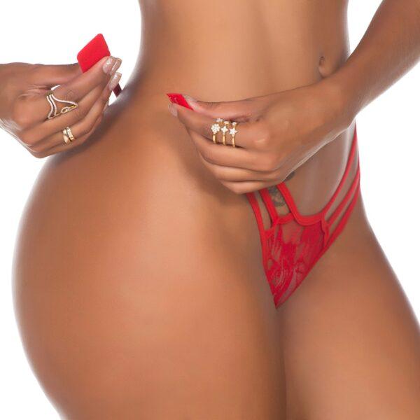 Calcinha Sexy, Fio Dental Lap Dance Pimenta Sexy Vermelha