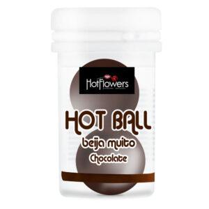 Bolinha Beija Muito Chocolate 2 Unidades HotFlowers - Sexshop