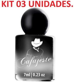 Kit 03 Perfume Deo Colônia Cafajeste 7ml Hot Flowers - Sexshop