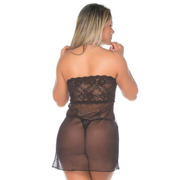 Camisola Sensual Sedução Pimenta Sexy Preta - Sexshop