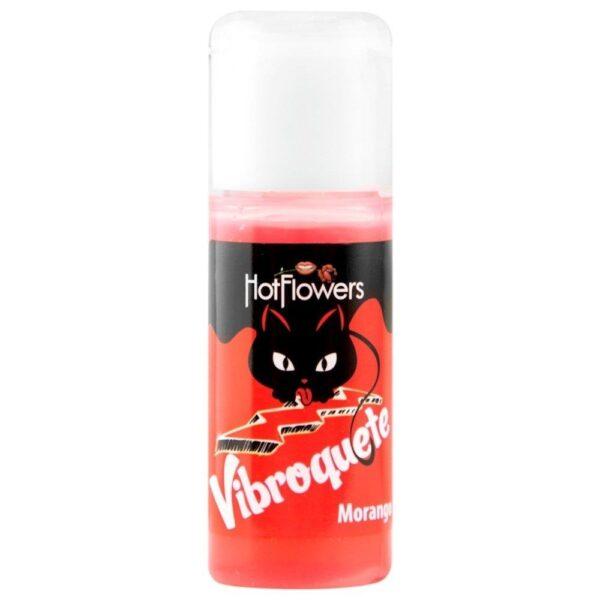 Vibroquete Morango Gel Vibrante 12gr Hot Flowers - Sexshop