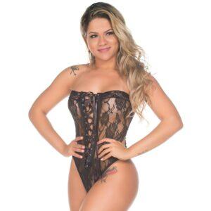 Body Sensual Tomara Que Caia Preto Pimenta Sexy - Lingerie Sexy