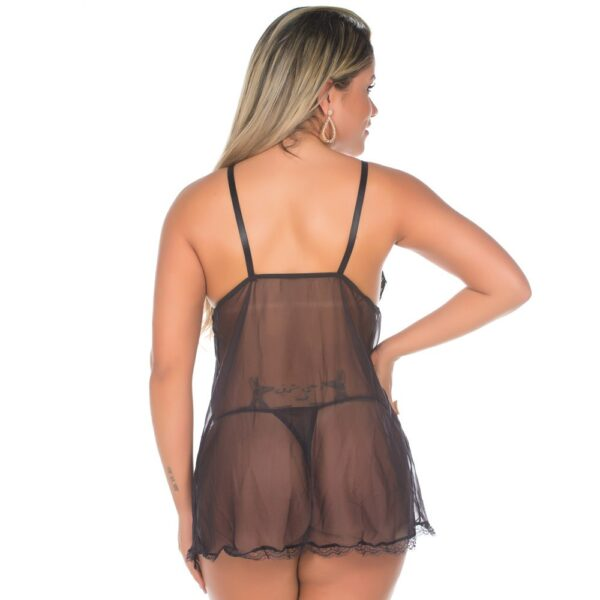 Camisola Sexy, Camisola Sensual Carol Preta Pimenta Sexy