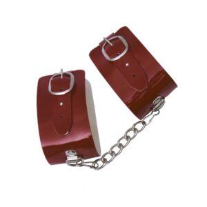 Algema Bracelete em Verniz Vermelho DOMINATRIXXX - Sex shop