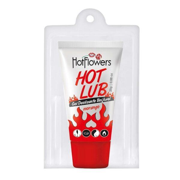 Gel Deslizante HotLub Beijável 25g HotFlowers - Sex shop