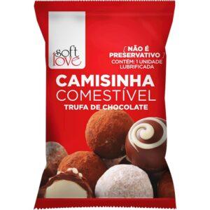 Camisinha Comestível Aromática Trufa de Chocolate Soft Love - Sex shop