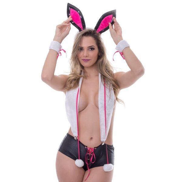 Kit Fantasia Coelhinha PlayBoy Sensual Love - Sexshop