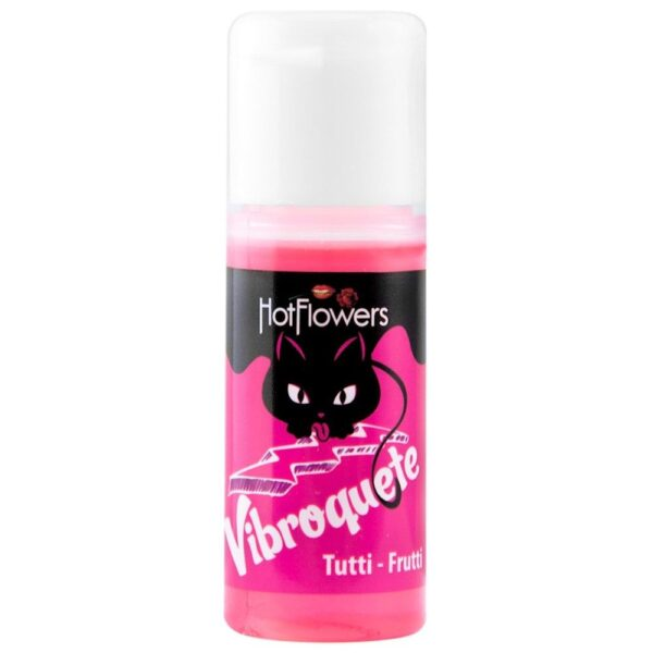 Gel Sexo Oral Vibroquete Tutti-Frutti Vibrante 12gr Hot Flowers - Sexshop