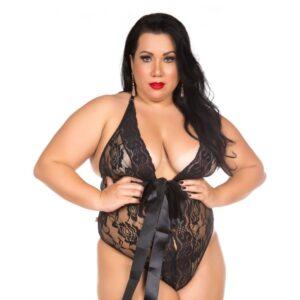Body Sensual Luxo Preto Plus Size Pimenta Sexy - Lingerie Plus Size-0