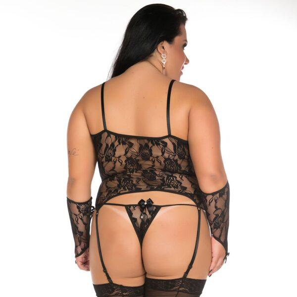 Camisete Liga Plus Size Pimenta Sexy Preta - Sexshop-40541