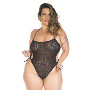 Body Sensual Plus Size Renda Branco Pimenta Sexy - Sexshop