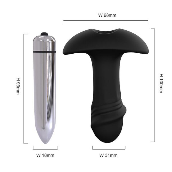 Plug Anal StarArrow com Vibro - Silicone Extra Macio - S-Hande