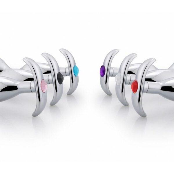 Estimulador de Próstata em Metal e Pedra Luxuosa - Sex shop