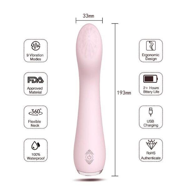 Estimulador de Ponto G Recarregável - Lisa - S-Hande - Sexshop