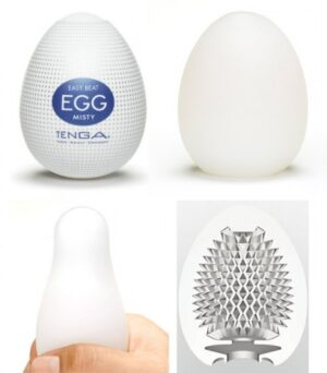 Caixa com 6 Masturbadores Tenga Egg - MISTY - Sexshop
