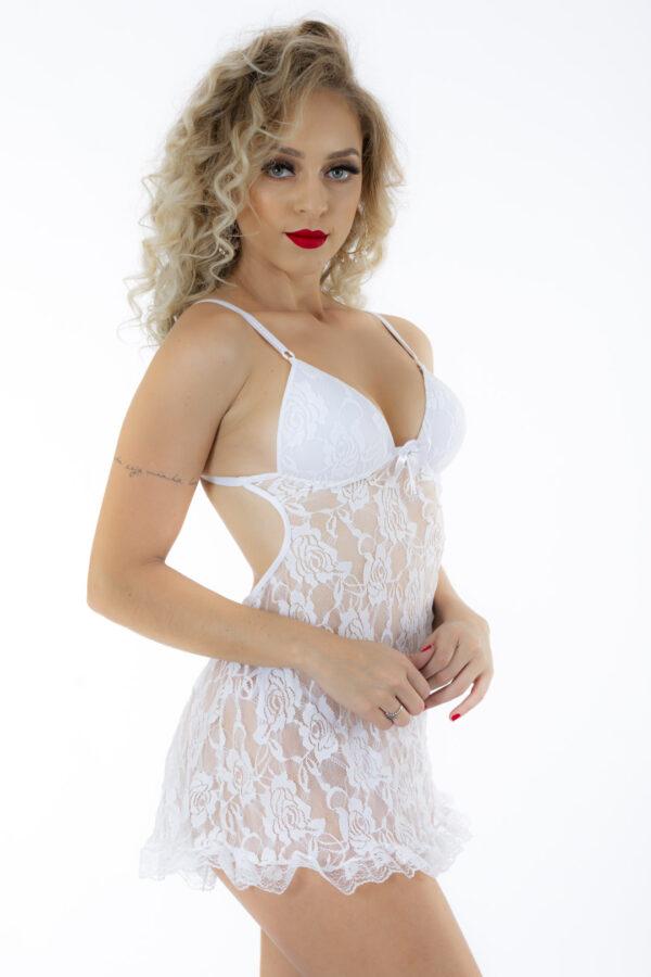 Camisola Jéssica Bojo Estruturado Pimenta Sexy Branca - Camisola Sexy