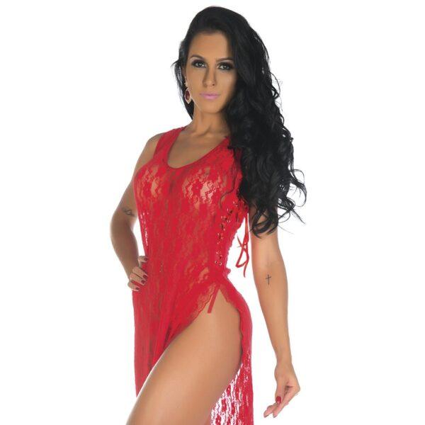 Camisola Sexy, Camisola Sensual Lua De Mel Pimenta Sexy Vermelha