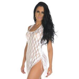 Camisola Sexy, Camisola Sensual Lua De Mel Pimenta Sexy Branca