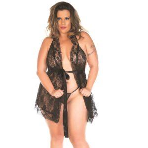 Camisola Sensual Plus Luxo Pimenta Sexy Branco - Sex shop