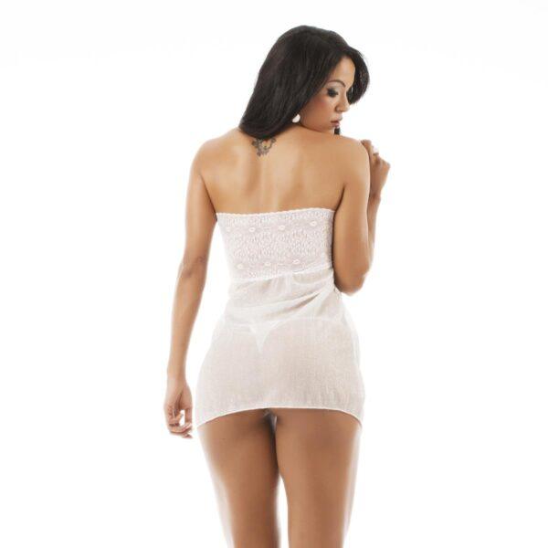Camisola Sensual Sedução Pimenta Sexy Branca - Sexshop