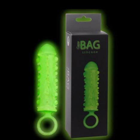 Capa Peniana Bag com Anel Testicular Foscorescente - Sexshop
