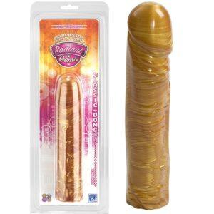 Pênis com saliências - DONG 8 GOLD - DOC JOHNSON - Sexshop